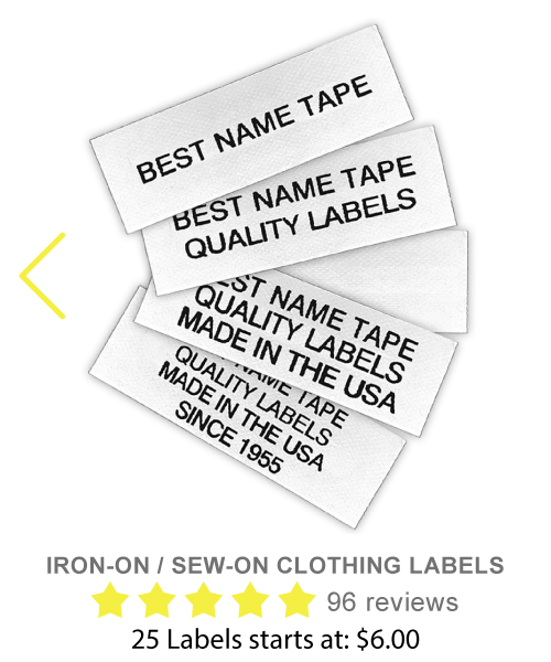Iron-On and Sew-On Clothing Labels