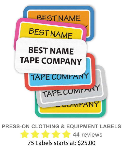 Press-On Clothing and Equipment Labels